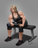 Commission - Working out by CarlosVasseur