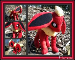 Flareon Plushie by CeltysShadow