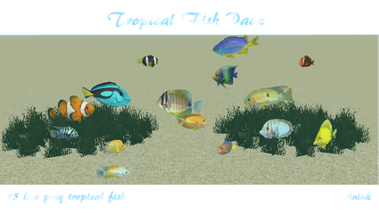 Tropical Fish Pack | FeralHeart Meshes by giddyfox