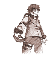 Kiba with a Tail by mausmouse