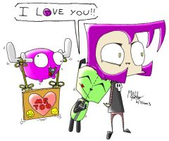 GIR says All you need is LOVE by megawackymax