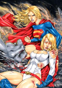 Supergirl and Powergirl by Fredbenes