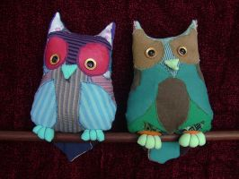 Owls by NataliaVulpes