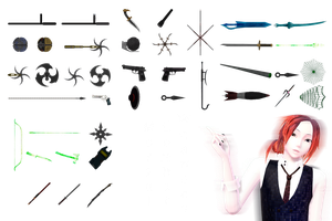 [MMD] Mortal Kombat - Weapons DL by JoanAgnes