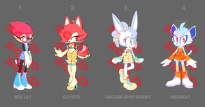 Sonic Adopts Batch 1: Cash Only/Auction: ALL SOLD by SailingScum