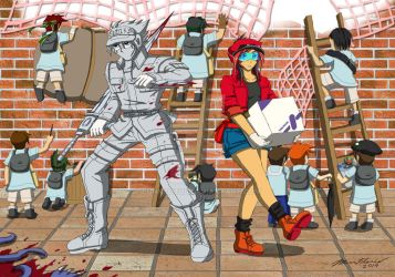 Hiryu x Tora - Cells at Work by punkbot08