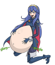 COMMISSION: Lucina Ate Shulk (no backgrounds) by DrakaNoms