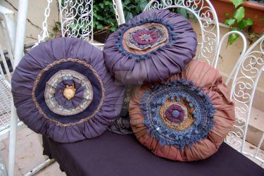 My handmade unique pillows by Hydrangeas