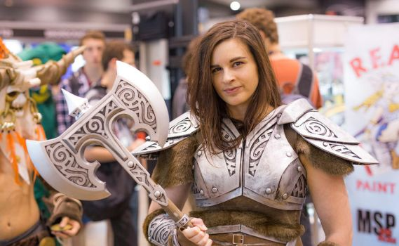 Skyrim Steel Armour Cosplay - PAX AUS 2014 by TheAnti-Lily