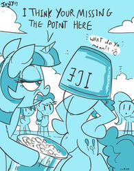 Pinkie Pie does the Ice Bucket challenge by Jowybean