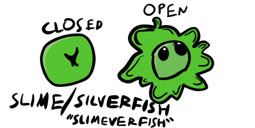 Slime/Silverfish Pet Head by CubeTron23