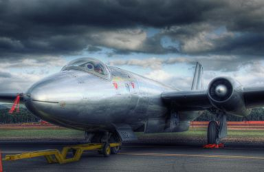 Gloster Meteor jet aircraft by RichardjJones