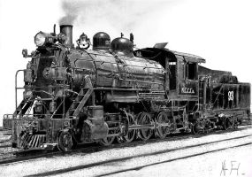 Northern Steam Locomotive by Self-Mao
