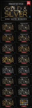 Gold and Silver 5 - Text Styles by ivelt