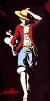 B-Day gift for Kempo: Luffy by DaniDL