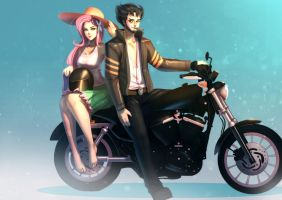 [commission] Easy Riders by bakki