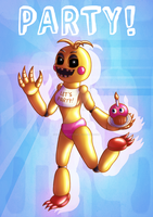 FnaF Toy Chica Poster! by Kana-The-Drifter