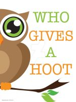 Who Gives A Hoot by Becadoodle-Designs