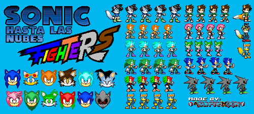[Scrapped Concept] Sonic hasta las Nubes Fighters by AsuharaMoon