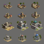 Game art buildings by sziabori