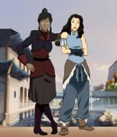 Asami and Korra (reupload) by chupipupi10