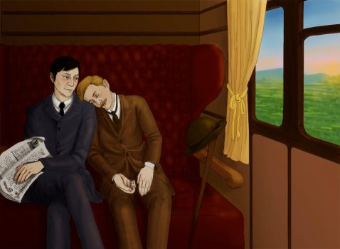 Lestrade and Watson by argwohn