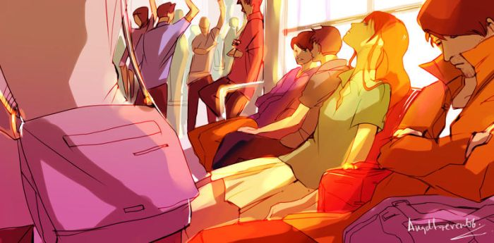 In the train by Angelforever06