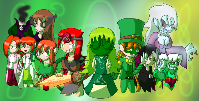 Ladies of the Emerald Isles by YingYangHeart