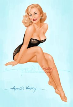 Diane pin up by Aaron Kirby by AtomicKirby