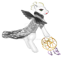 Dark Swan Once Apon A time Emma Ponyzation colour by WhiteLedy