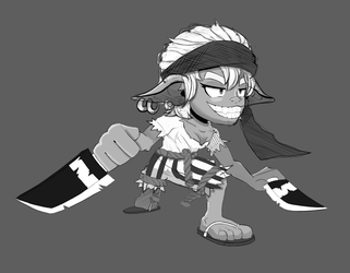 Goblin Pirate WIP by D1gg3R101