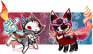 :Halloween Foxponds for Auction(closed): by PrePAWSterous