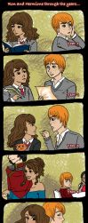 Ron and Hermione by Captain-Nana