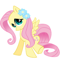 Fluttershy with flowers by SpikesMustache