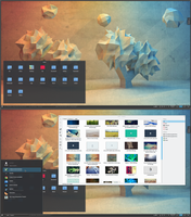 Low Poly ArchLinux KDE 5 by printesoi