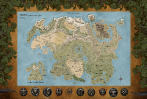 The Map of Tamriel by Watosh66