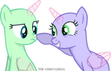 A cute nose boop(Base#5)2-ponies by Starchase-Bases