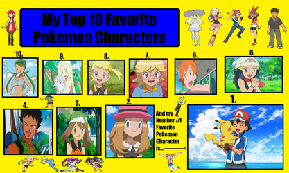 My Top 10 Favorite Pokemon Characters Base by AlexanderArthur12345
