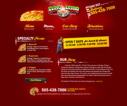 Pizza Website by Elvis57