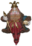 Wise Man Star Christmas Ornament  - Red and Gold by EveyD
