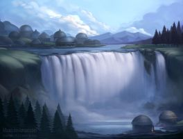 MA: Waterfall village by MBato