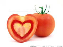 love - heart shaped tomato by dkraner