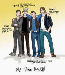 Big Time Rush Boys by HelenOH