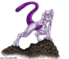 Mewtwo doodle by Moonshadow01
