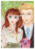 Art Trade: Sophie and Andrew by Khallandra