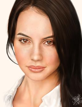 IPad finger painting of Adelaide Kane by chaseroflight