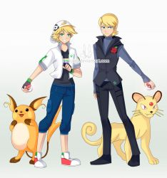 Pokemon trainers_Miraculous brothers by shinjiiru