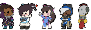.:Overwatch Stickers:. by xXCosmicCarrotXx