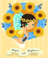 August is for Sunflowers by Ikupoo