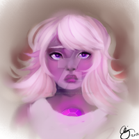 Amethyst bust by thecorruptedprincess